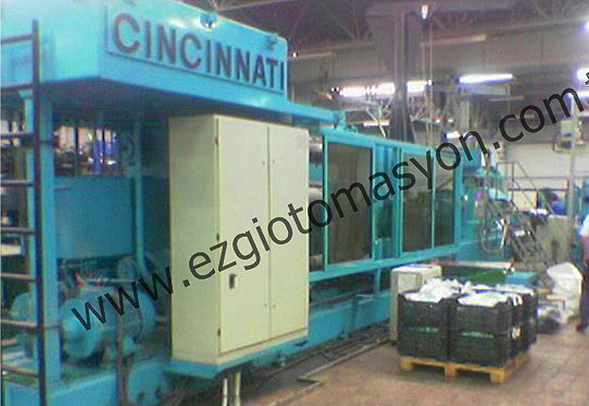 Plastik enjeksiyon otomasyonu 1250 ton con-